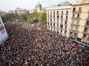 Protestas en la calle en Cataluña