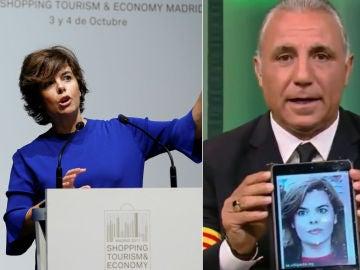 Soraya Sáenz de Santamaría se querellará contra Hristo Stoichkov