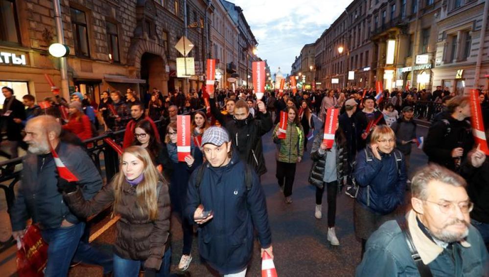 Jornada de protestas en Rusia