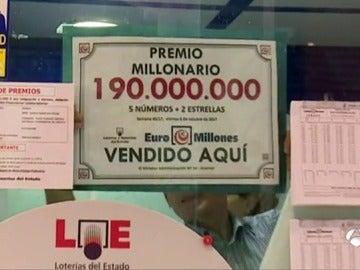 Premio de 190 millones de euros
