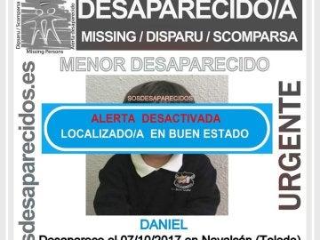 Localizan en buen estado al niño desaparecido en Toledo