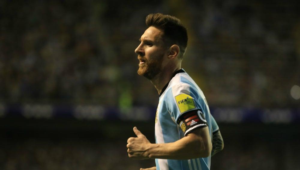 Messi, con Argentina