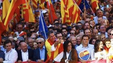 Xavier García Albiol en la manifestación en Barcelona por la unidad de España