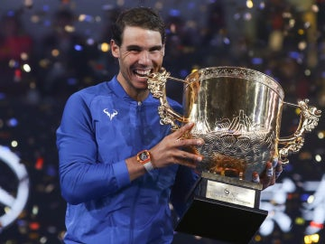 Rafa Nadal muerte el trofeo de Pekín