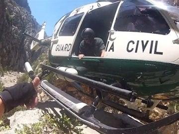 Helicóptero de la Guardia Civil, de rescate