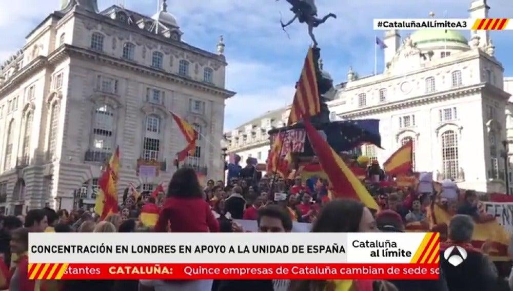 Banderas españolas en Londres