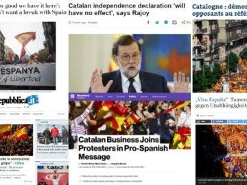 Los medios internacionales se hacen eco de la manifestación en Barcelona