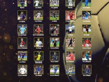 Los 30 nominados al Balón de Oro 2017