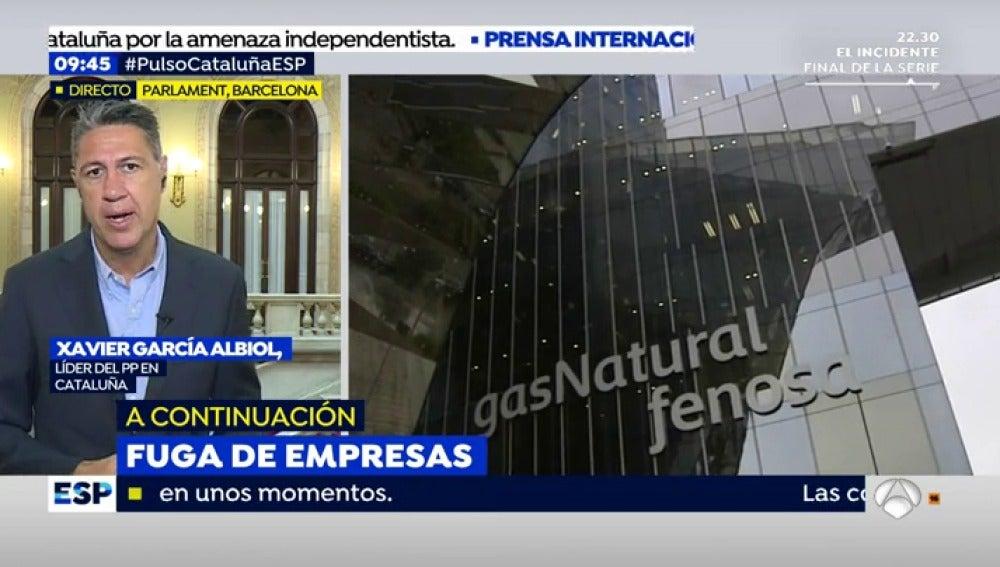 """Xavier García Albiol, sobre la fuga de empresas: """"Es la mayor sensación de la decadencia que se está viviendo en Cataluña por culpa del independentismo"""""""