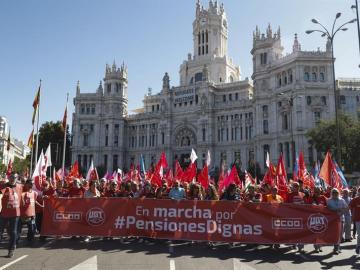 Las Marchas por las pensiones dignas, organizadas por CCOO y UGT