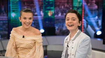 Millie Bobby Brown y Noah Schnapp en 'El Hormiguero 3.0'