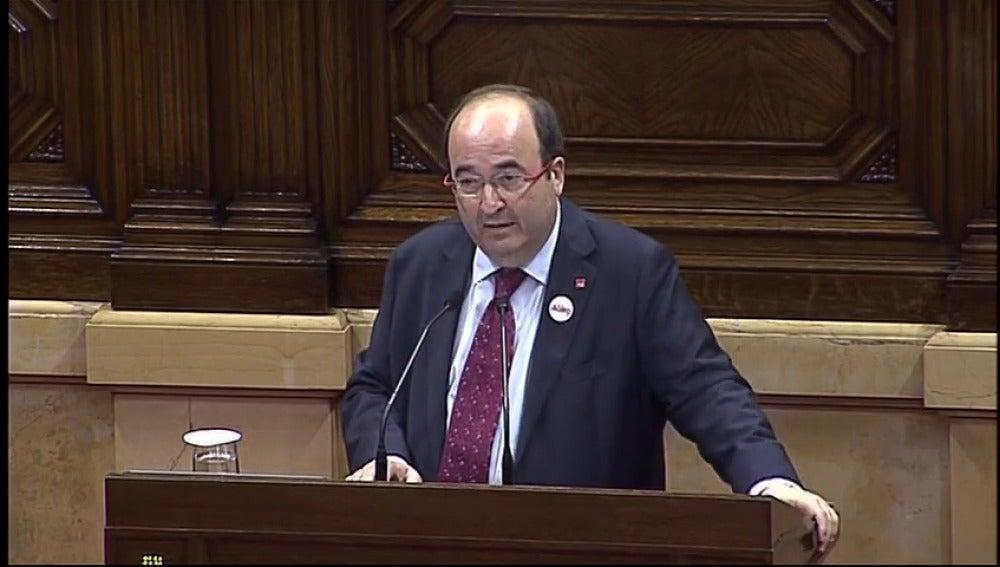 """Iceta: """"Las instituciones catalanas se situaron fuera de la ley los días 6 y 7 de septiembre"""""""