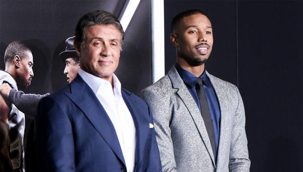 Sylvester Stallone junto a Michael B. Jordan