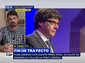 """Dante Pérez, alcalde de Gimenells: """"Si hay que aplicar el 155, que se aplique, pero sin humillar a la sociedad catalana"""""""