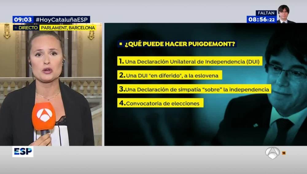 ¿Qué opciones tiene Puigdemont?
