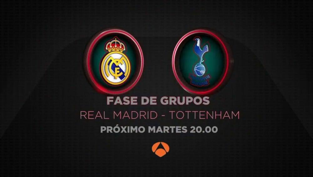 El Real Madrid-Tottenham se juega en directo en Antena 3 y Atresplayer