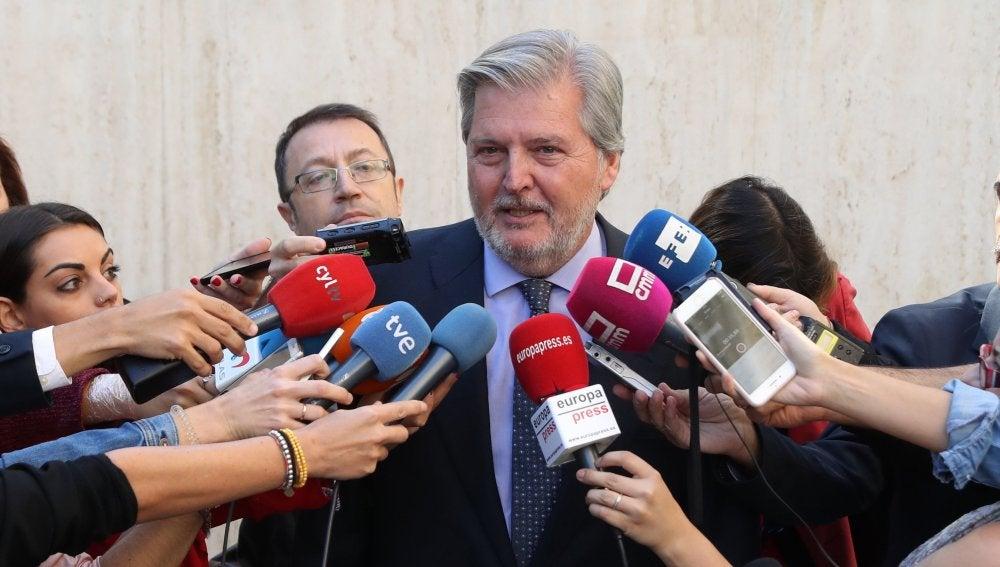 El ministro de Educación y portavoz del Gobierno, Íñigo Méndez de Vigo