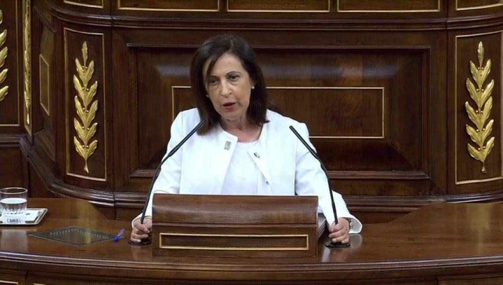 """Margarita Robles: """"Defendemos el marco constitucional que tenemos gracias a todos los que pagaron el precio de su libertad por él"""""""