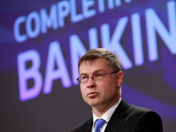 El vicepresidente de la Comisión Europea (CE) para el Euro y el Diálogo Social, Valdis Dombrovskis,