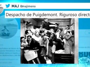 Los 'memes' de la comparecencia de Puigdemont en el Parlament