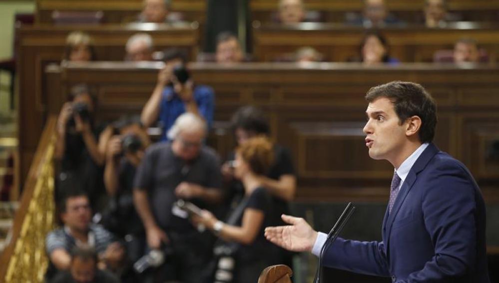 Albert Rivera en el Congreso de los Diputados