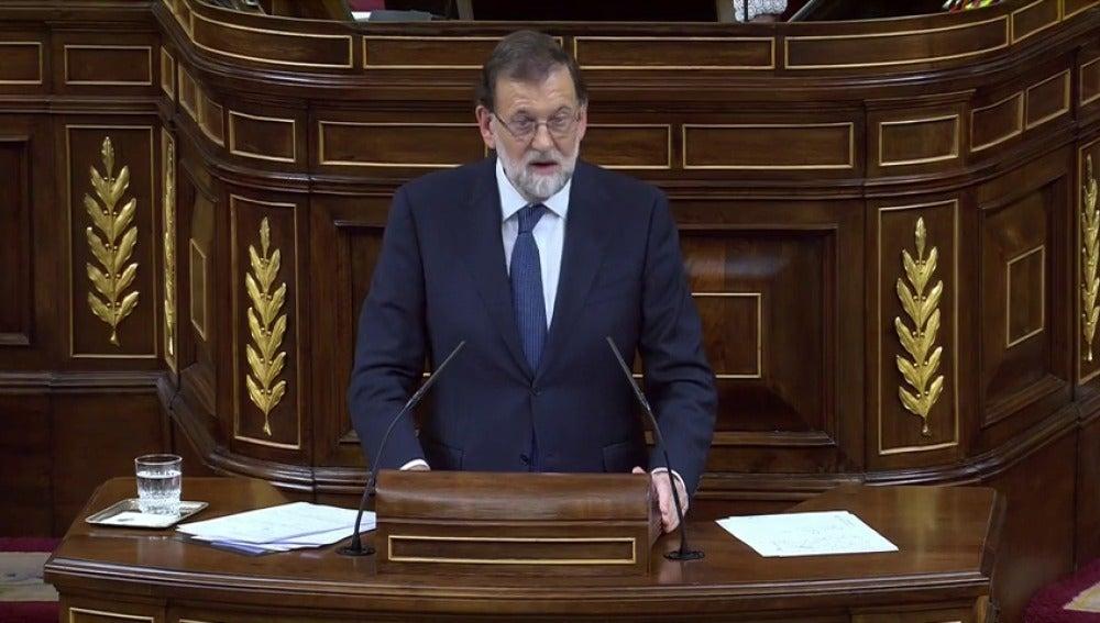 """Rajoy: """"Es hora de poner fin a este desgarro y hacerlo con serenidad y prudencia"""""""