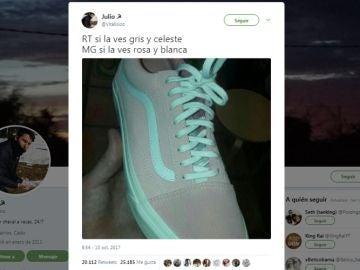¿De qué color ves estas zapatillas?