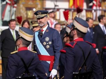 Felipe VI, en el desfile de la Fiesta Nacional
