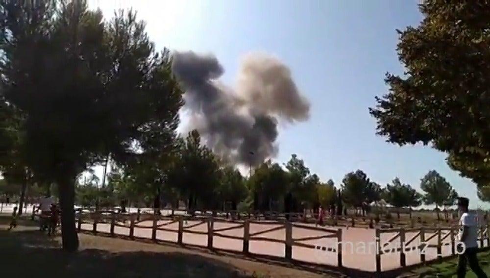 Un avión del Ejército del Aire se estrella en la base aérea de Los Llanos en Albacete