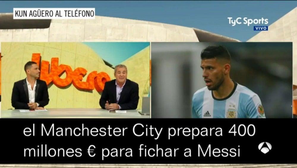 """Agüero confirma que el Manchester City está al 'acecho' de Messi: """"La 'plata' no es un problema"""""""
