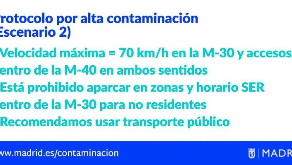 Protocolo anticontaminación del Ayuntamiento de Madrid