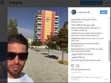 Sergio Ramos presume de ser español en el Día de la Hispanidad