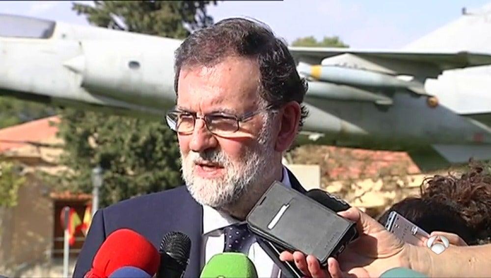 Rajoy transmite solidaridad y afecto a los familiares del piloto fallecido en Albacete