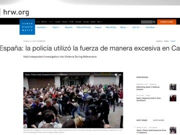 Informe de Human Rights Watch sobre el 1-O