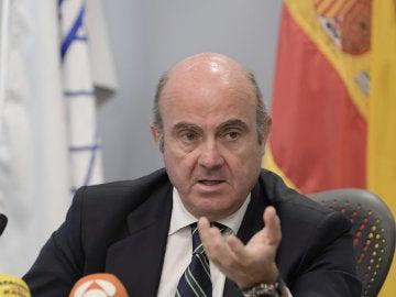 El ministro español de Economía, Industria y Competitividad, Luis de Guindos