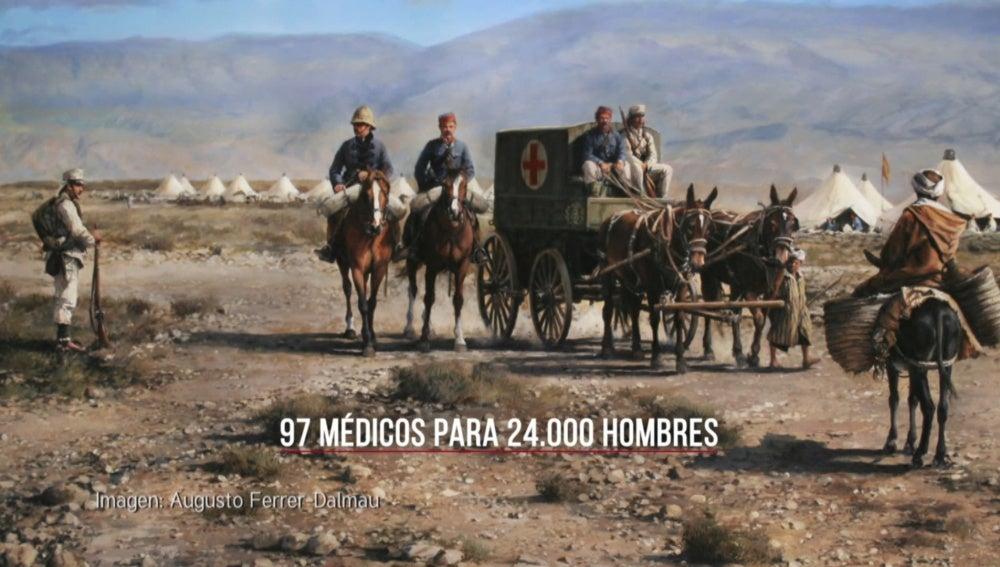 Había 97 médicos para 24.00 hombres en el Desastre de Annual
