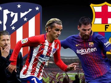 Griezmann y Messi, cara a cara en el duelo Atlético - Barcelona
