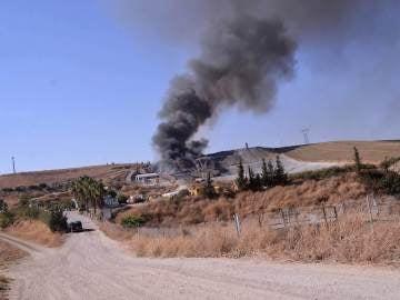 El incendio en una planta de residuos de Córdoba