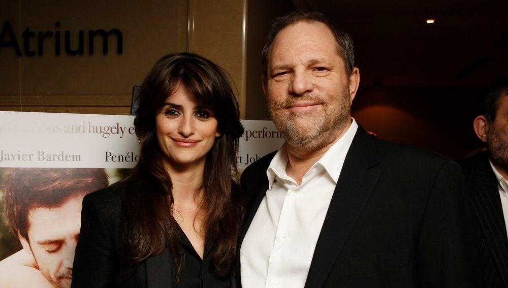 Penélope Cruz y Harvey Weinstein