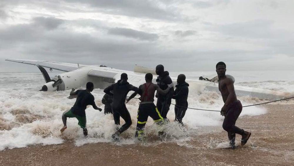 Accidente de avión en Costa de Marfil