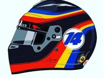 Fernando Alonso estrena casco tributo a Indianápolis