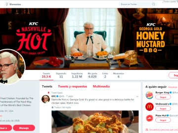 Perfil de Twitter de Kentucky Fried Chicken