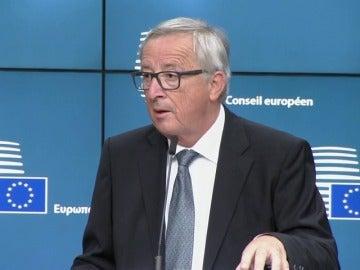 """Juncker, sobre el 'Brexit': """"Reino Unido nos ha dado algunas informaciones de sus propuestas, pero no todas las que queremos"""""""