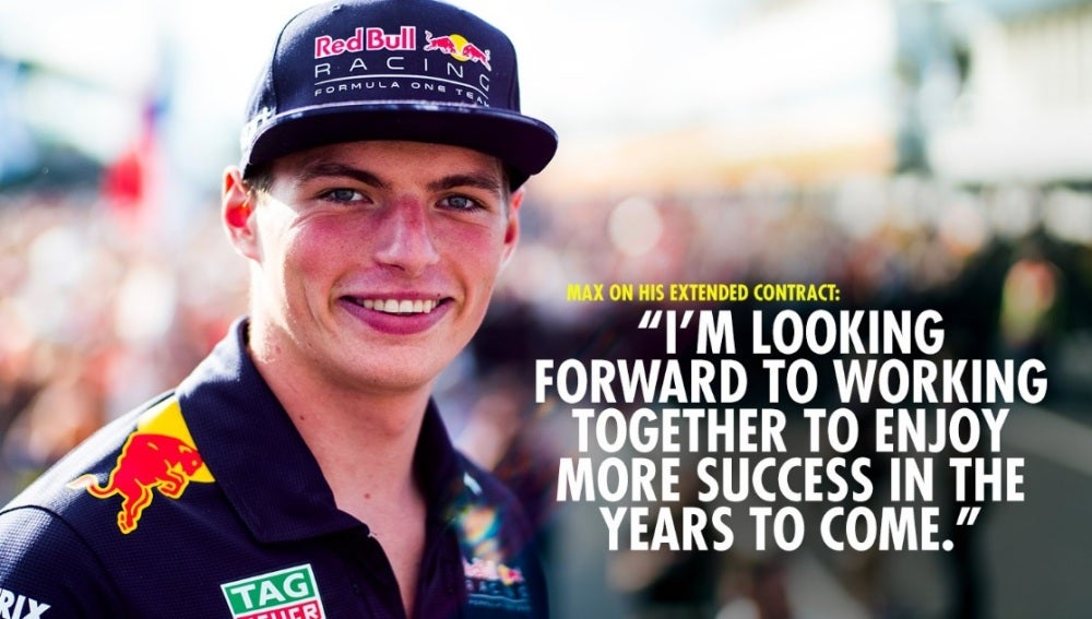 Max Verstappen renueva con Red Bull hasta 2020