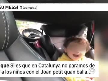 Mensaje de Piqué en un vídeo del hijo de Messi