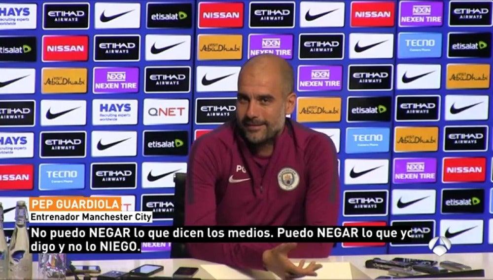 """Guardiola, sobre la información de Antena 3 Noticias: """"No puedo negarlo"""""""