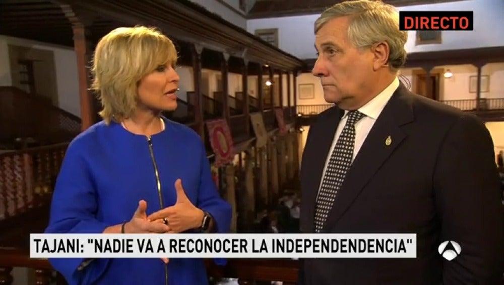 """Tajani: """"Hay que ser claro con los catalanes: La Unión Europea no reconocerá la independencia"""""""