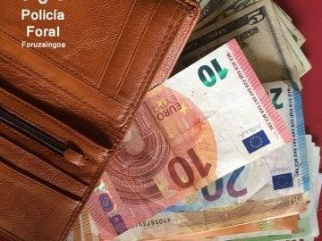 El dinero que contenía la mochila