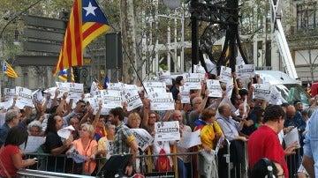 Manifestantes en Barcelona