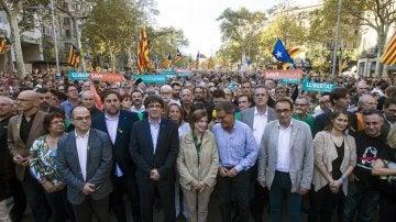 El Govern asiste a la manifestación por la liberación de los 'Jordis'